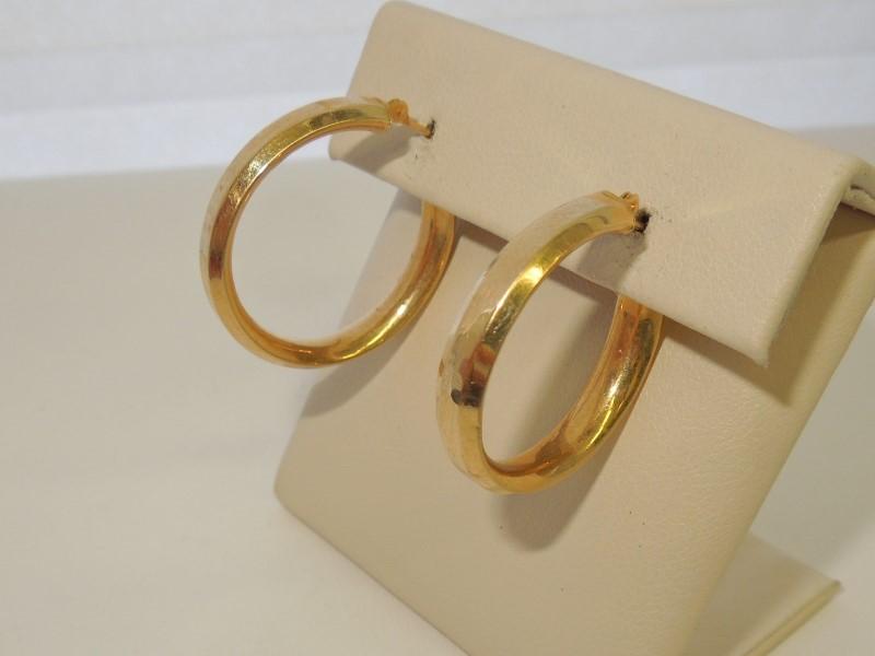 Gold Earrings 14K Yellow Gold 1.7g