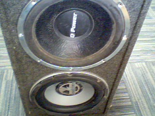 "QPOWER Car Speaker Cabinet 15"" SPEAKERS IN BOX"