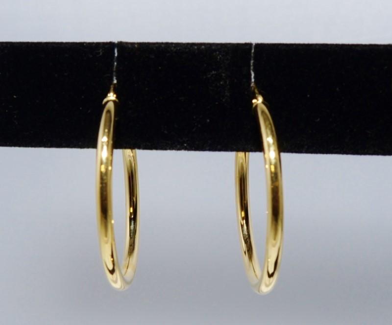 Gold Earrings 14K Yellow Gold 2.8g