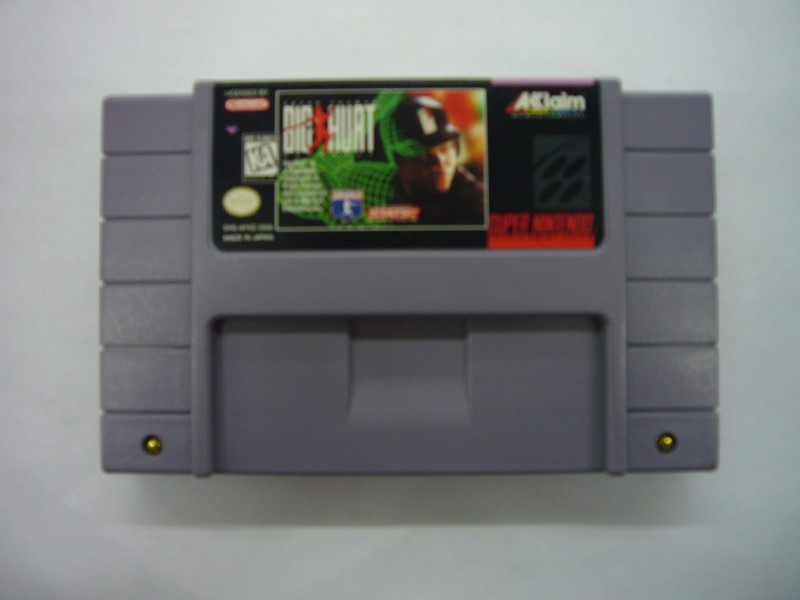 NINTENDO SNES Game FRANK THOMAS BIG HURT BASEBALL *CARTRIDGE ONLY*