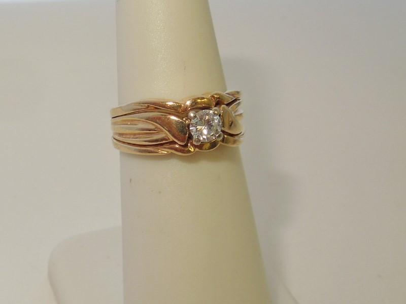 Lady's Diamond Wedding Set .20 CT. 14K Yellow Gold 4.9g