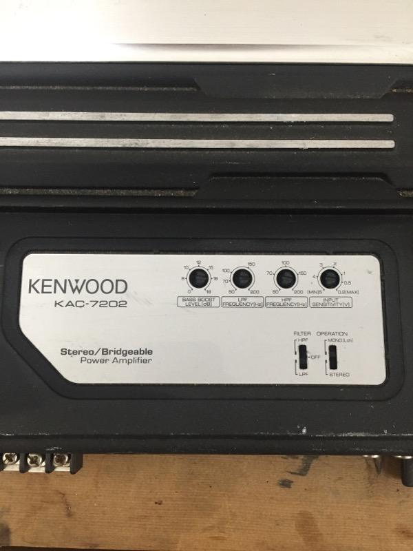 KENWOOD Car Amplifier KAC-7202