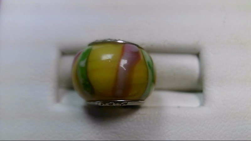 Chamilia Pink and Green Glass Bead 925 Silver