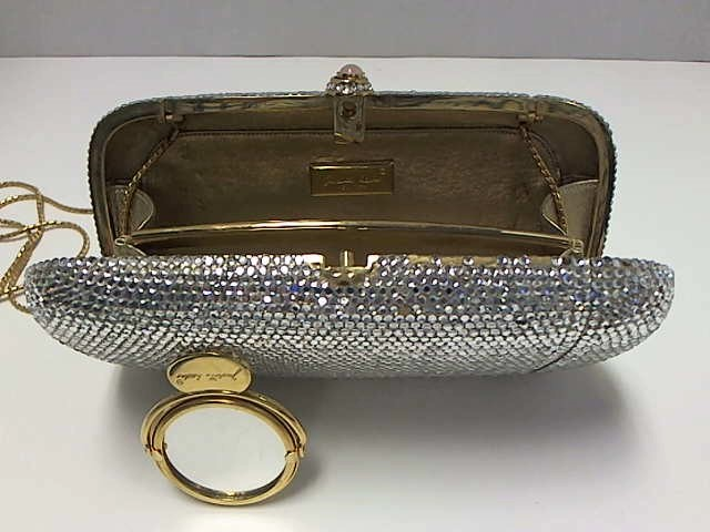 JUDITH LEIBER CRYSTAL EVENING CLUTCH SHOULDER BAG