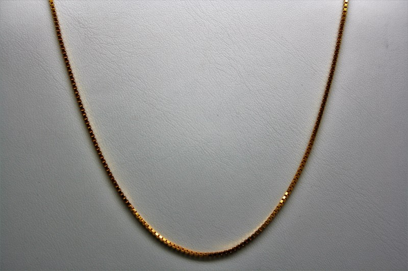 "22"" BOX STYLE GOLD CHAIN 22K YELLOW GOLD"