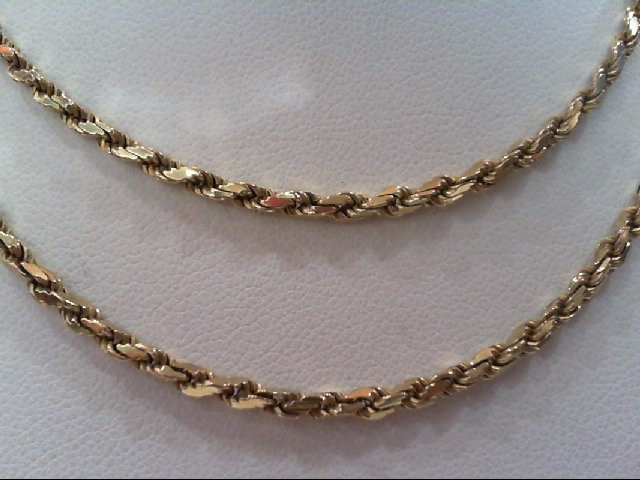 Gold Rope Chain 14K Yellow Gold 11.1g