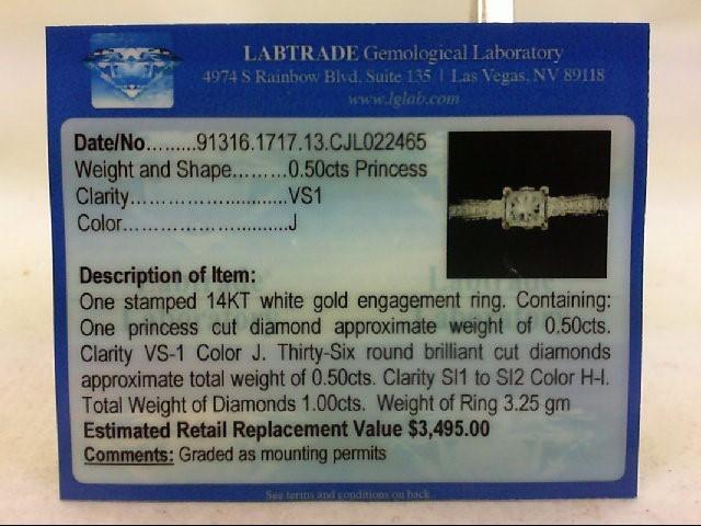 Lady's Diamond Wedding Set 37 Diamonds 1.00 Carat T.W. 14K White Gold 3.25g