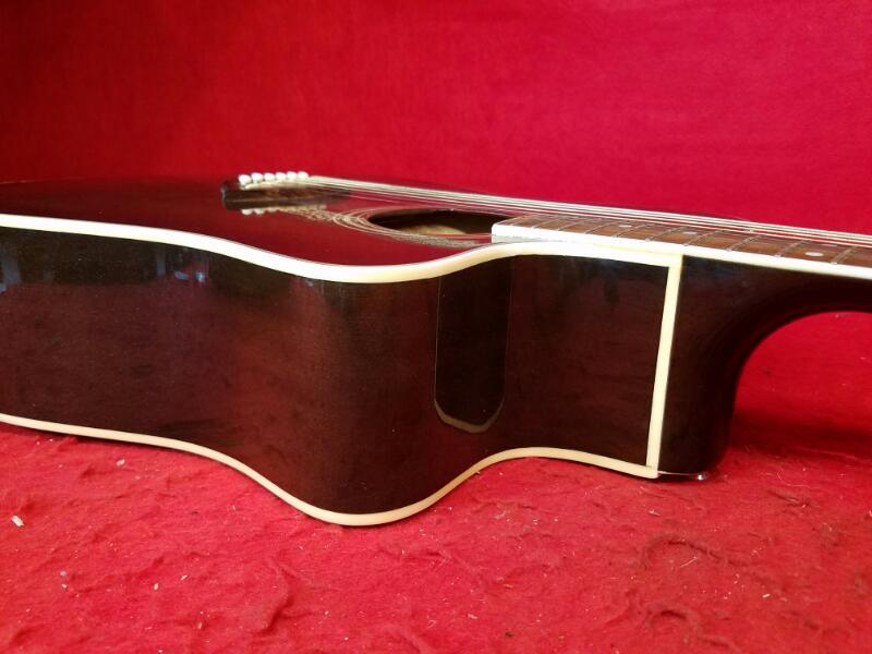 Kona Dark Brown Acoustic Dreadnought Guitar