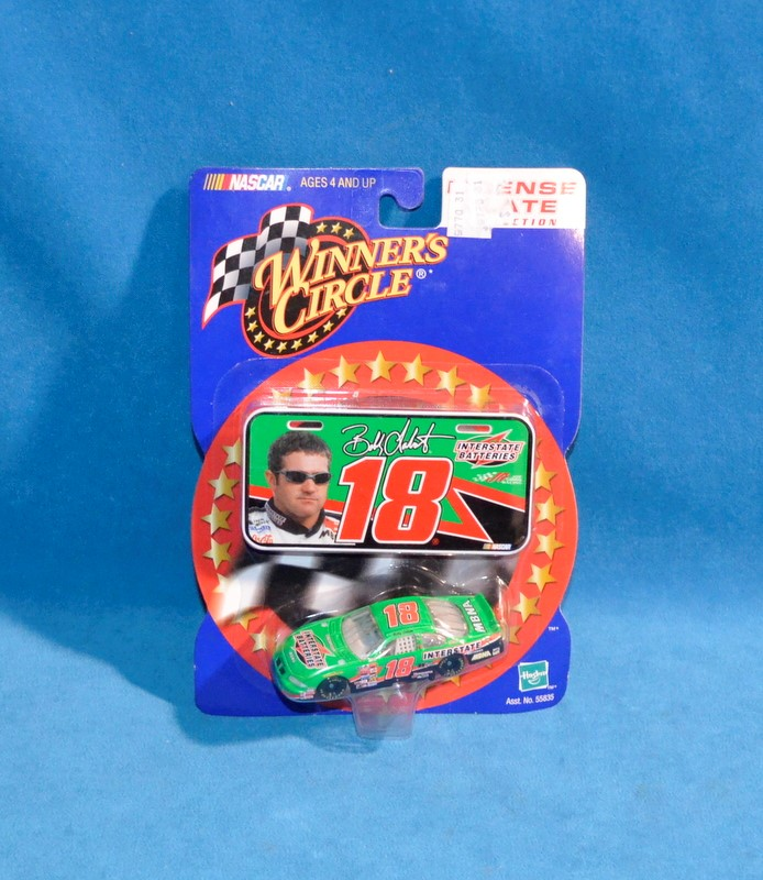 WINNERS CIRCLE Bobby Labonte #18 NASCAR License Plate Collection Diecast Car
