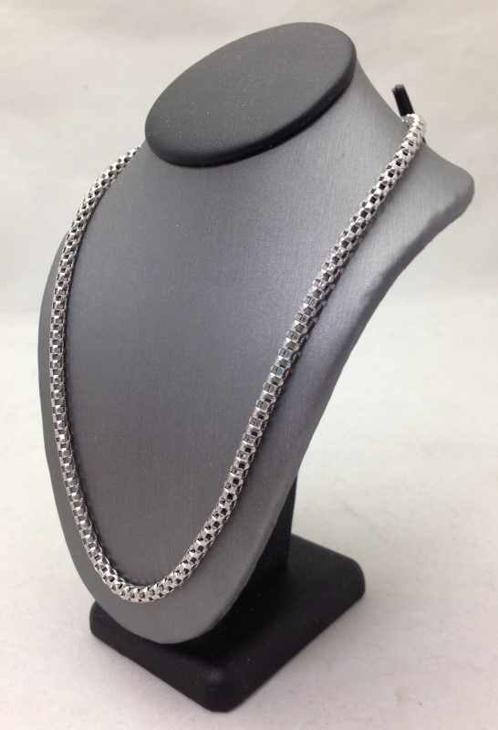 Sterling Silver Round Mesh Chain 925