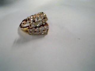 Lady's Diamond Fashion Ring 20 Diamonds 1.52 Carat T.W. 14K Yellow Gold 5.01g