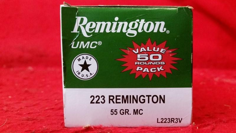 Remington 223 Rem 55gr MC Ammo - #L223R3V