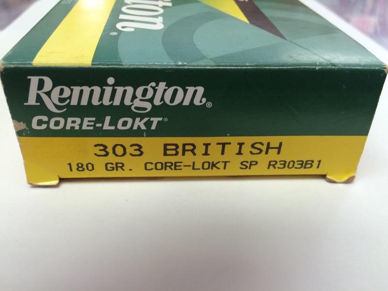 Remington - 303 British - 180 GR. Core-Lokt SP