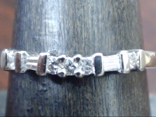 VINTAGE DIAMOND ANNIVERSARY WED RING BAND SOLID PLATINUM 950 SZ 8.25