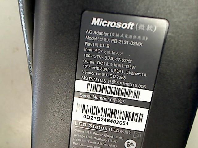 MICROSOFT Video Game Accessory XBOX 360 POWER BRICK
