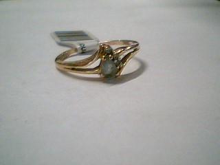 Synthetic Aquamarine Gold-Diamond & Stone Scrap 3 Diamonds .06 Carat T.W.