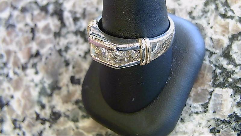 Gent's Diamond Fashion Ring 5 Diamonds .79 Carat T.W. 14K Yellow Gold 11.4g