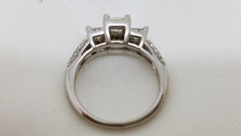 Lady's Diamond Engagement Ring 53 Diamonds 1.19 Carat T.W. 14K White Gold 4g