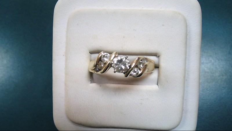 Lady's Diamond Solitaire Ring 7 Diamonds 1.00 Carat T.W. 14K Yellow Gold 5g