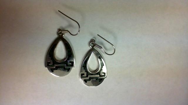 Agate Silver-Stone Earrings 925 Silver 9.8g