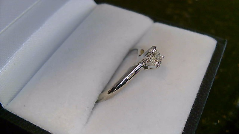 Lady's Diamond Solitaire Ring .25 CT. 14K White Gold 1.6g
