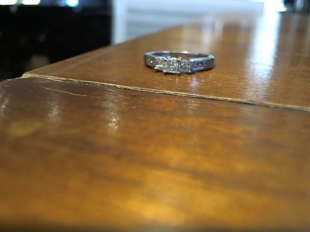 Lady's Diamond Solitaire Ring 7 Diamonds .53 Carat T.W. 14K White Gold 3.3g