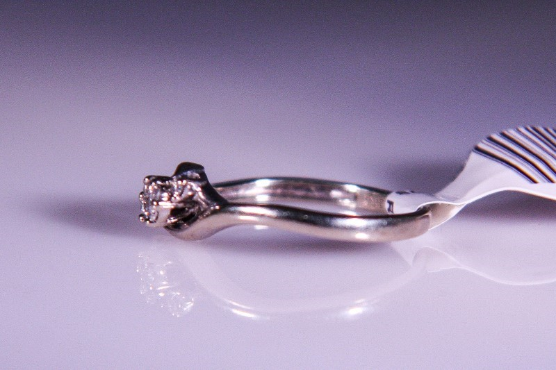 Lady's Diamond Cluster Ring 9 Diamonds .09 Carat T.W. 14K White Gold 1.7g