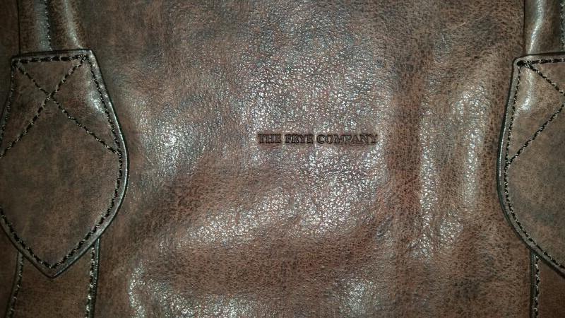 Frye Logan Zip Tote Leather Handbag Purse (Dark Brown/Cognac)