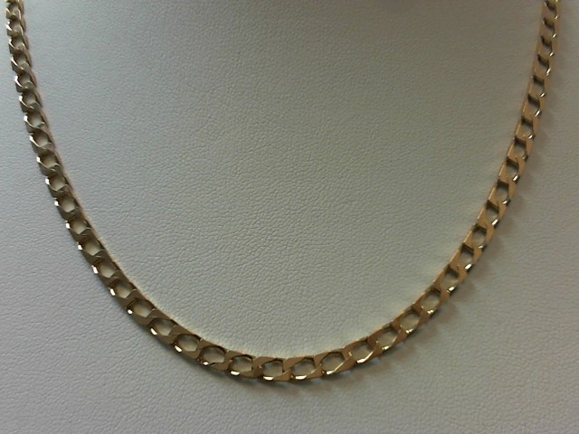 "19"" Gold Curb Chain 9K Rose Gold 13.1g"