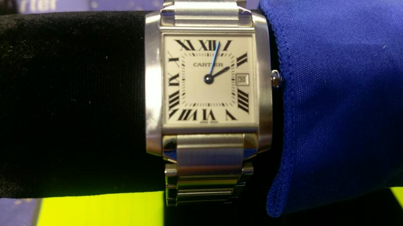 CARTIER Lady's Wristwatch TANK FRANCAISE 2465 BEAUTIFUL