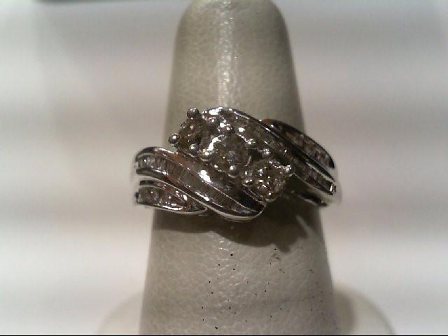 Lady's Diamond Fashion Ring 43 Diamonds .53 Carat T.W. 14K White Gold 2.5g