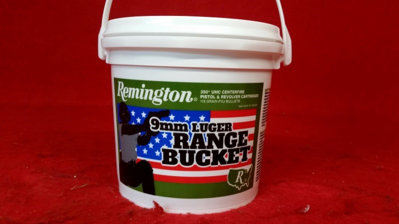 Remington 9mm Range Bucket 115gr MC 350rd/Bucket