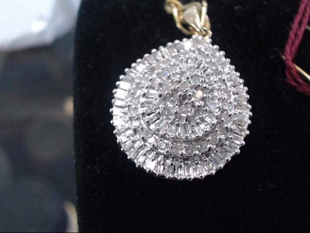 Gold-Multi-Diamond Pendant 112 Diamonds .970 Carat T.W. 14K White Gold 3.1g