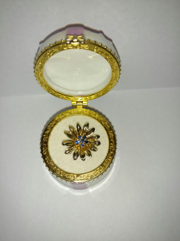 Tiffany & Co. Synthetic Sapphire Gold-Stone Brooch 14K Yellow Gold 3.5g