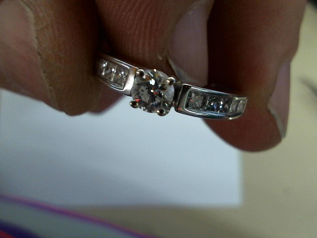 Lady's Diamond Fashion Ring 11 Diamonds .70 Carat T.W. 14K White Gold 3.2g
