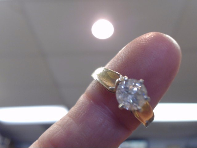 Lady's Diamond Solitaire Ring .75 CT. 14K Yellow Gold 2.1dwt