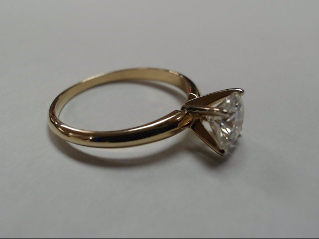 Lady's Diamond Solitaire Ring 1.00 CT. 14K Yellow Gold 2g