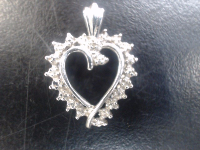 heart  10K White Gold 1.2 gr