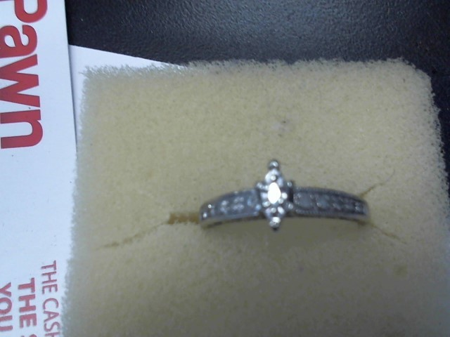 Lady's Diamond Engagement Ring 11 Diamonds .20 Carat T.W. 10K White Gold 2.8g