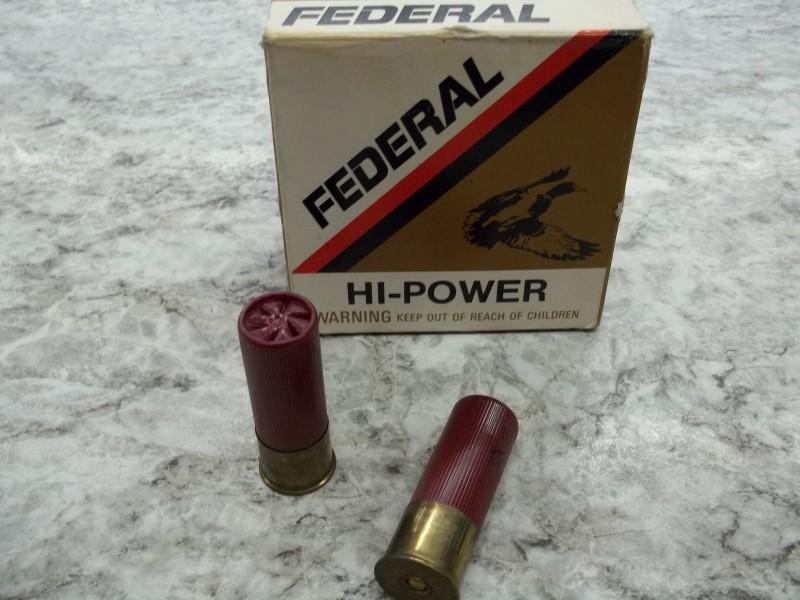 FEDERAL HI- POWER 12G 25 SHELLS