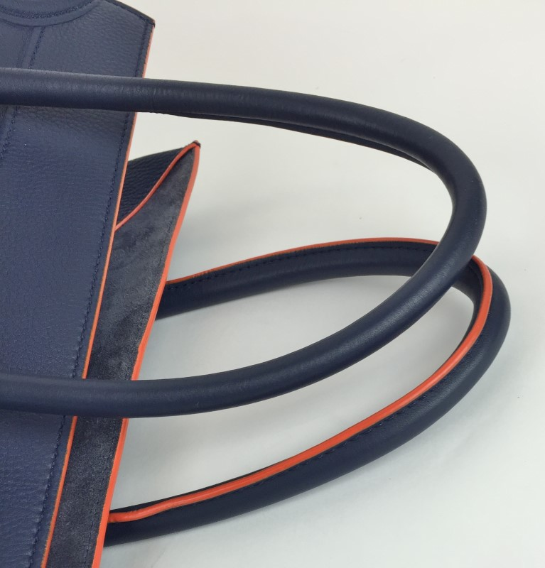 celine purses - CELINE BLUE ORANGE TRIM PHANTOM BAG Acceptable | MaxPawn | Las ...