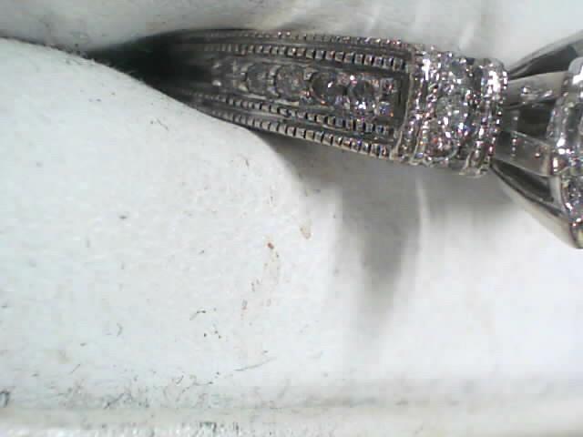 Lady's Diamond Cluster Ring 21 Diamonds .44 Carat T.W. 14K White Gold 3.3dwt