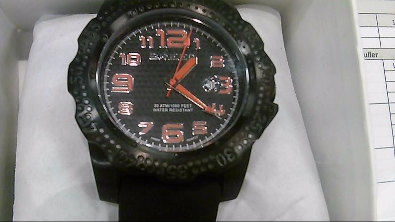 Breed Bolt Black and Orange Wristwatch