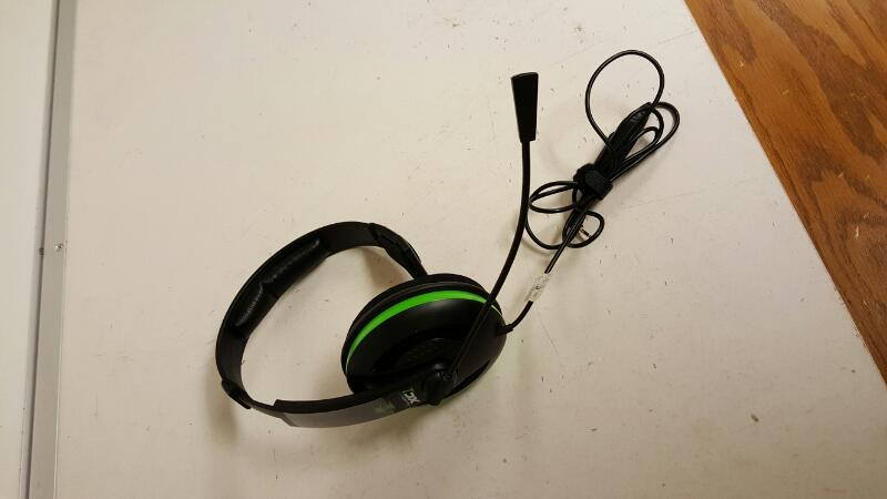 Turtle Beach Ear Force XC1 Black/Green Headband Headsets for Microsoft Xbox 360