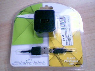 CELLULAR ACCENTS  2 IN 1 USB MINI TRAVEL CHARGER FOR IPHONE 6/6 PLUS.