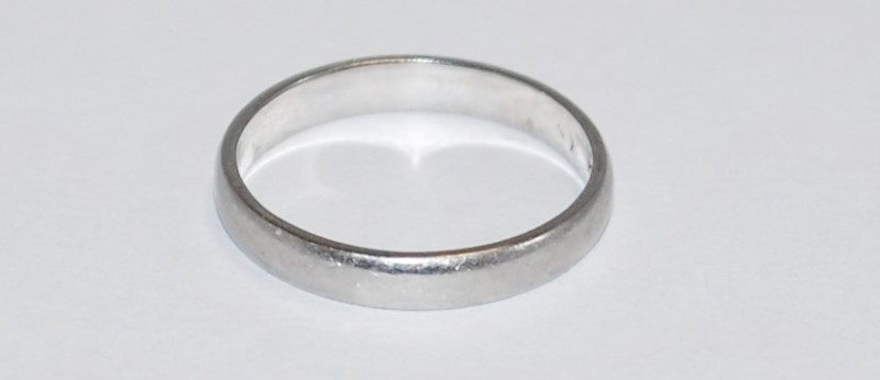 Lady's Platinum Ring 950 Platinum 3.48g Size:6.5