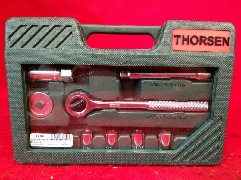 "Thorsen Tools 11pc Socket Set - Metric - 3/8"" Drive"