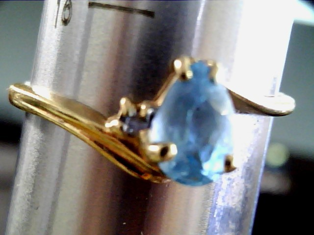 L'S 14KT Aquamarine Lady's Stone Ring BLUE STONE(S) AQUA MARIN 10K Yellow Gold