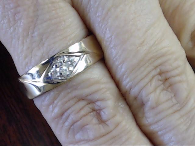 VINTAGE DIAMOND CLUSTER WEDDING RING BAND SOLID REAL 14K GOLD MENS