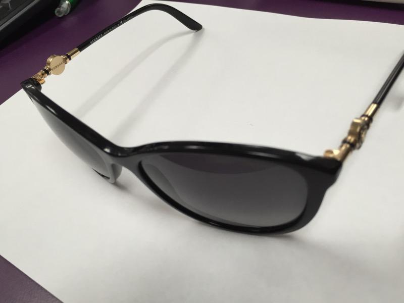 Versace Women's VE4251-GB1/11-57 Black Round Sunglasses
